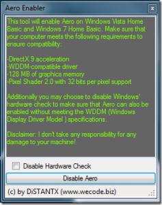 AeroEnabler 6 Herramientas para mejorar la apariencia de Windows 7