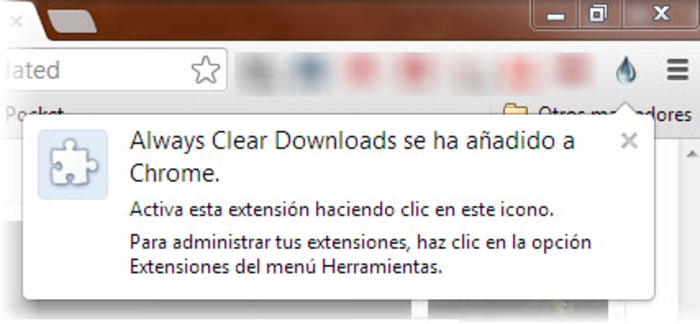 Always Clear Download Always Clear Download: Limpiar las descargas en Chrome