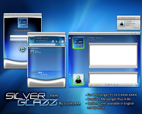 SilverGlazz 2009 Dos temas interesantes para Windows Live Messenger 2009