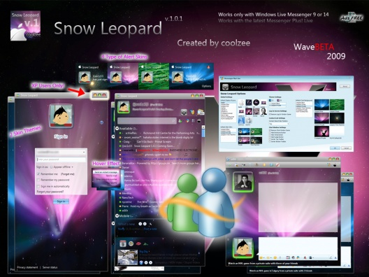 Snow Leopard Dos temas interesantes para Windows Live Messenger 2009