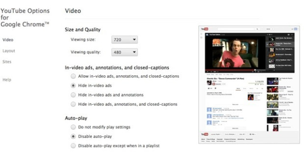 Youtube Options