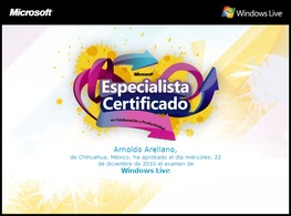 Especialista Certificate en colaboración y productividad con Windows Live