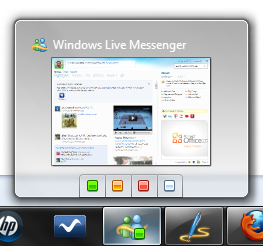 Live Messenger 2011 en Windows 7 Como cambiar el estado de Live Messenger desde la superbarra