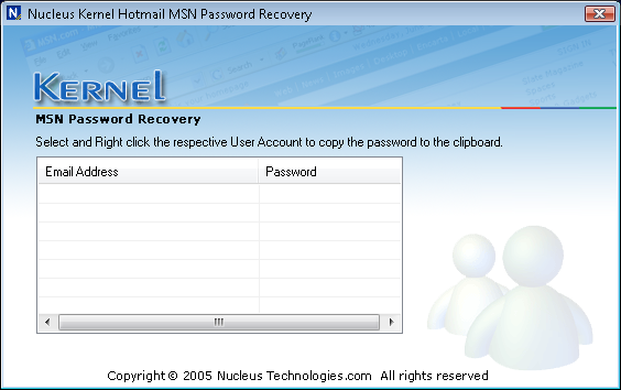 Nucleus Kernel Hotmail MSN Password Recovery Como recuperar la contraseña de messenger