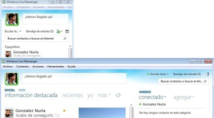 elegir vista Como usar Windows Live Messenger 2011