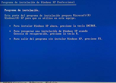 bios 5 Tutorial: Como formatear e instalar Windows XP