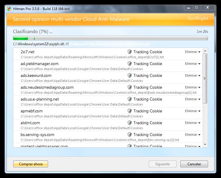 hitmanpro Como eliminar el malware MywebSearch