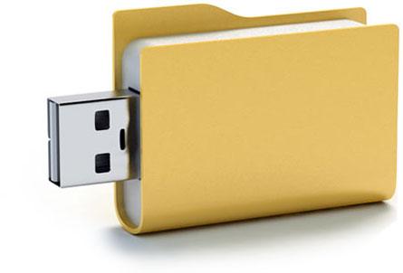 Carpeta con conector USB