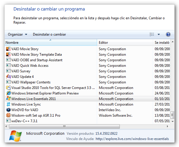 msn2011 1 Como desinstalar Windows Live Messenger 2011