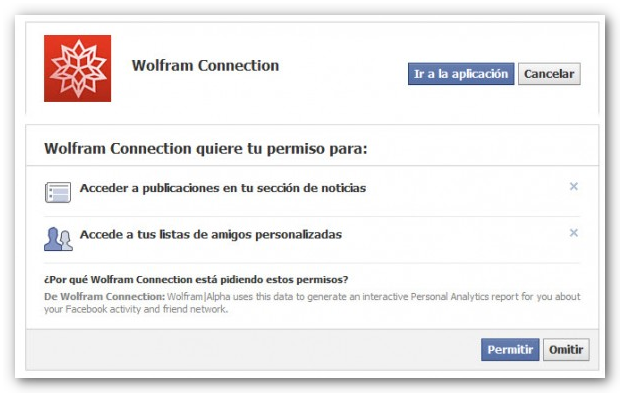 permisos wolfram Un buscador que sabe todo de ti en Facebook