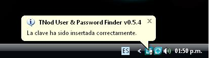 Tnod User & Password Finder 0.5.4 usuarios y contraseñas para tu Nod32
