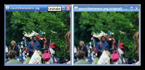 Reparar fotos borrosas con Unshake
