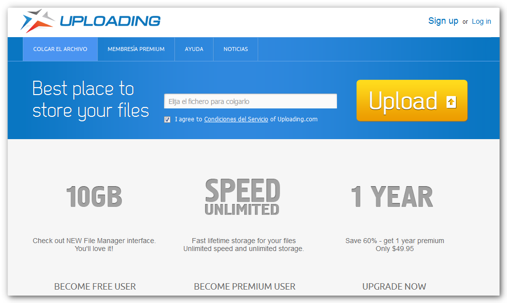 uploading 5 Alternativas a MegaUpload
