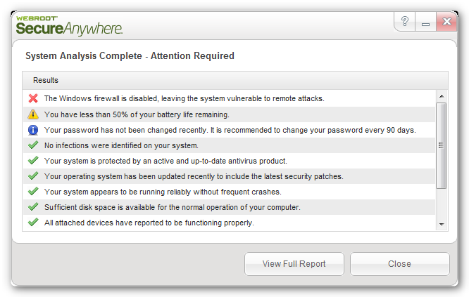 webroot system analyzer Webroot System Analyzer: Detecta problemas en windows