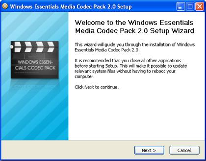 windows essentials codec pack 1 Windows Essentials Codec Pack