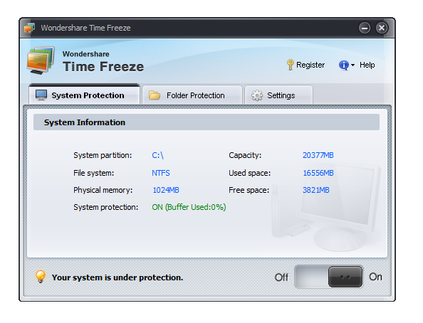 wondershare time freeze Como congelar la configuracion de Windows